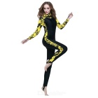 Sbart Unisex Long-Sleeve Hooded Dive Skin - Black + Yellow (XXL)
