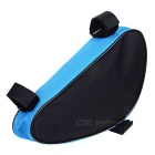 B-SOUL YA191 Nylon Triangle Bike Top Tube Bag - Black + Blue