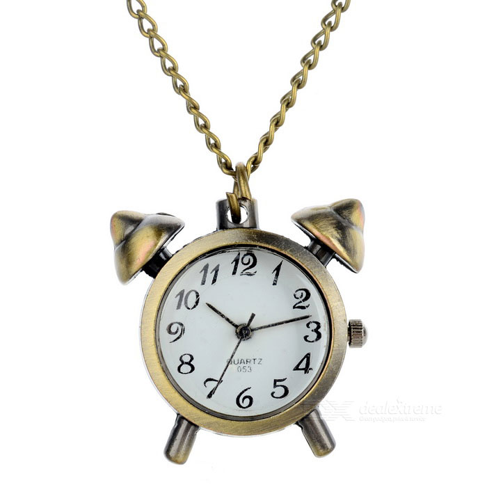 Bella Mini sveglia di stile collana Pocket Watch - bronzo