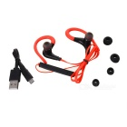 Bluetooth 4.1 Stereo Ear-Hook Sports Earphones w/ Mic. - Red + Black