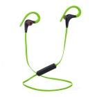 Bluetooth 4.1 Stereo Ear-Hook Sports Earphones w/ Mic. - Green + Black