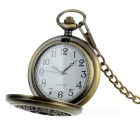 Vintage oca-out Flor Carve Pocket Watch para as Mulheres - Bronze