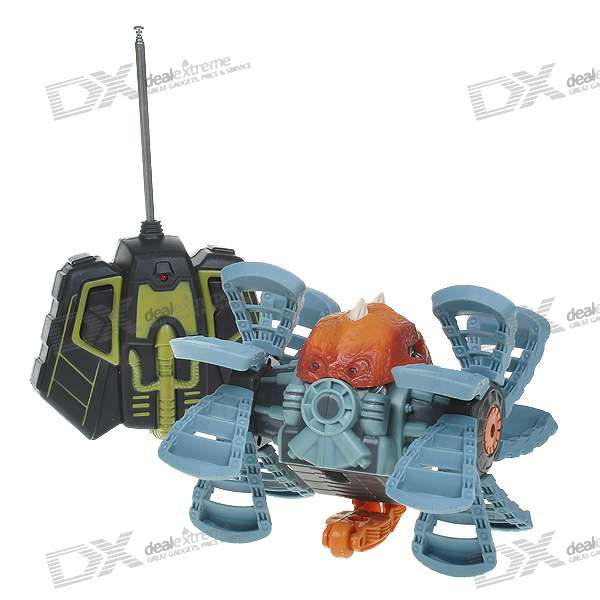 Rechargeable R/C Transform Monster Toy (49MHz/Light Blue + Brown Color)