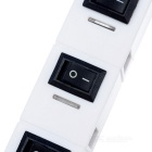 1-to-4 USB 2.0 HUB w/ Independent Switches & Indicator Light - White