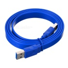 CY U3-030-1.0M USB 3.0 A Male to A Male Flat Data Cable - Blue (1m)