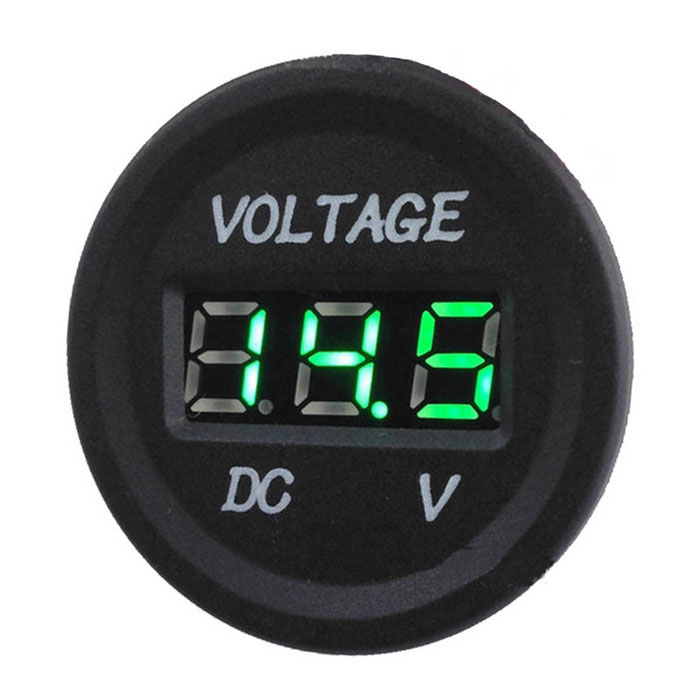 "F001 Car / Motorcycle 0.8"" Green LED Voltage Display - Black"