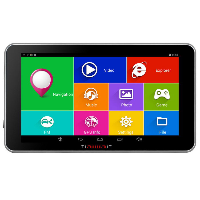 "TiaiwaiT A50 7"" HD MT8127A Quad-Core Android Car GPS Navigator (US)"
