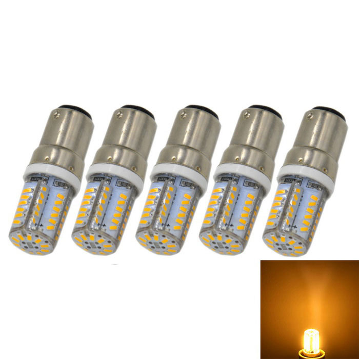 B15 3W 240lm LED Warm White Light Bulb (AC 220V / 5PCS)