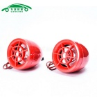Dispositif d'alarme anti-vol de moto w / Dual Speakers - Rouge (2PCS)