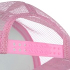 Classic Nylon Mesh Baseball Hat Cricket Cap - Pink + White