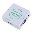 HDMI TO VGA + Audio Converter for PS3, XBOX360, HD DVD, TV Box - White