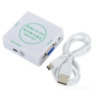HDMI a VGA + convertidor de audio para PS3, XBOX360, HD DVD, TV Box - Blanco