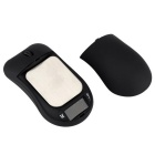 200g/0.01g Professional Mouse Shaped Mini Digital Pocket Scale - Black