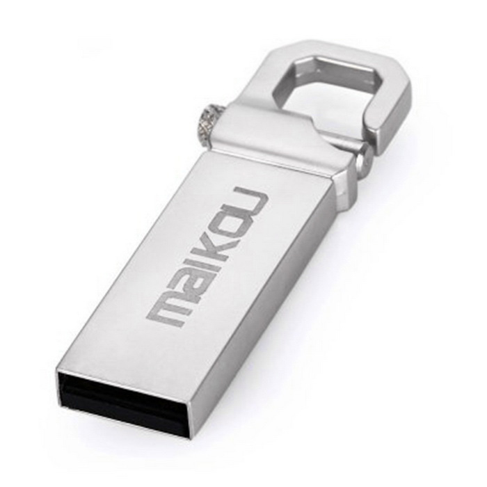 Maikou MK2204 USB 2.0 Flash Drive - Silver Grey (8GB)