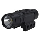 3W White LED Light Flashlight with 20mm Gun Mount - Black (1*CR123A)