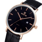SKONE 508402 Unisex Business Watch w/ Calendar - Rose Gold + Black