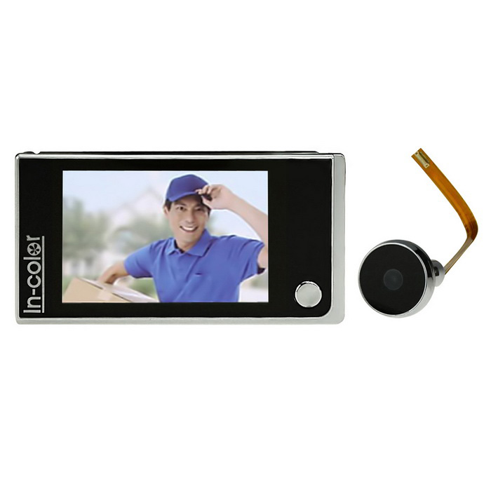 "3.5 ""Single-Pulsante Smart Digital Peephole Camera del visore del portello - Nero"
