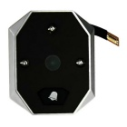 "3.5"" LCD 3-LED IR Smart Digital Door Viewer w / Doorbell - Black+Grey"