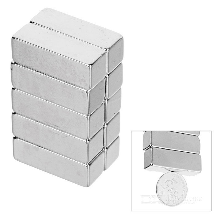30*10*10mm Retangular NdFeB Neodymium Magnet - Silver (10 PCS)Magnets Gadgets<br>Form  ColorSilverMaterialNdFeBQuantity1 DX.PCM.Model.AttributeModel.UnitNumber10Suitable Age 12-15 years,Grown upsPacking List10 * Magnets<br>