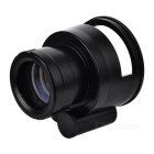Multifuncional 10X 65mm lupa LED w / Large Ocular - Negro