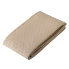 DIY Protective Fiber Leather Car Steering Wheel Cover - Beige(37~38cm)
