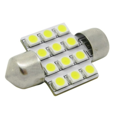 HONSCO Festoon 31mm 1W 12-3528 SMD LED Cold White Car Reading Lamp