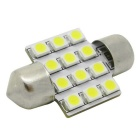 HONSCO Festoon 31mm 1W 12-3528 SMD LED Cool White Car Reading Lamp