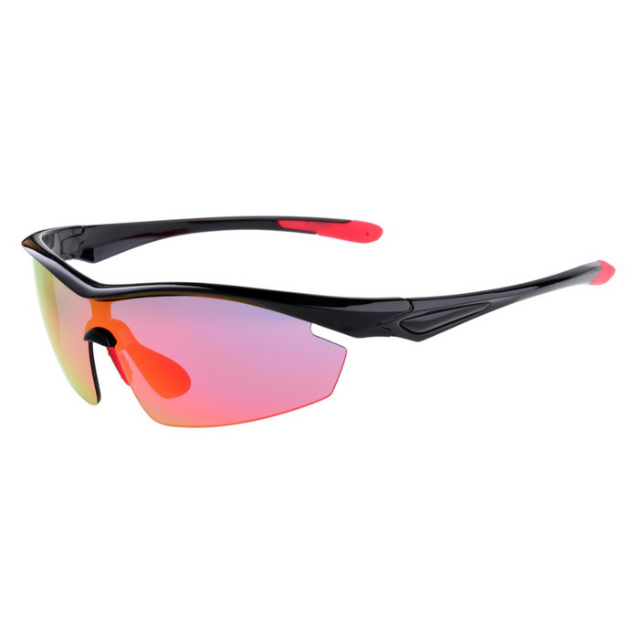 Senlan 9002C1 polarizados Sport Sunglasses - Black + Red