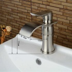 F-0730 Single Handle One Hole Nickel Brushed Bathroom Sink Faucet