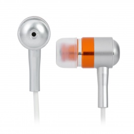 Metallic 3.5mm In-Ear Stereo Earbuds Earphones - Orange