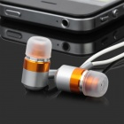 In-Ear Stereo Earbuds (3.5mm Metallic Orange)