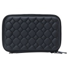"Portable Rhombic Cubic Pattern EVA Zipper Case for 2.5"" HDD - Black"