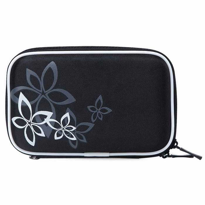 "Portable Protective EVA Zippered Case for 2.5"" HDD - Black + White"