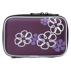 "Portable Protective EVA Zippered Case for 2.5"" HDD - Purple + White"