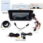 "Junsun 7"" HD Car DVD Player / GPS w/ Radio, Rear Camera - Black + Grey"