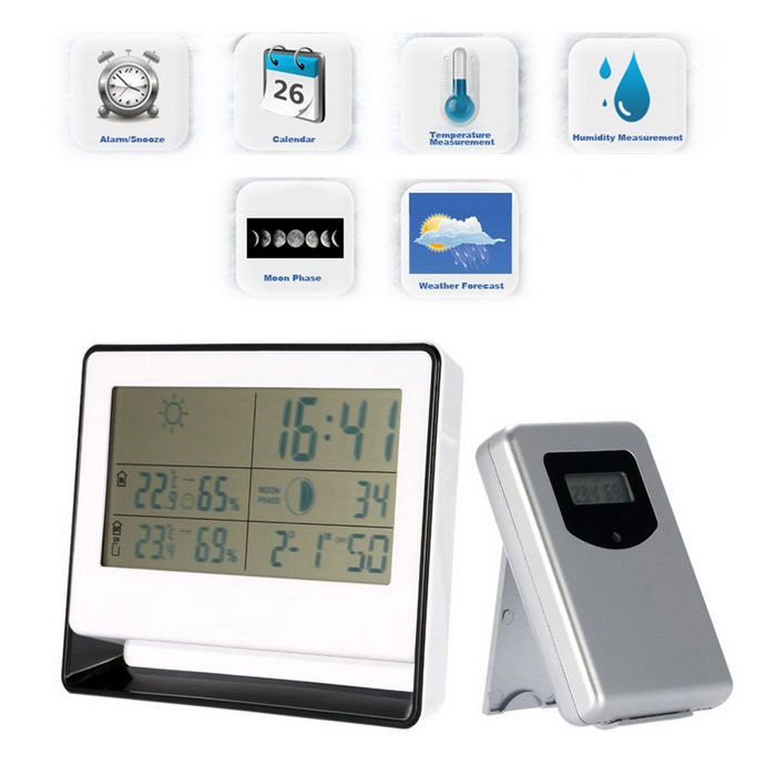 RF Receiving Weather Station Clock Digital Thermometer Hygrometer - Free  Shipping - DealExtreme 5ec89f3e7a7ce