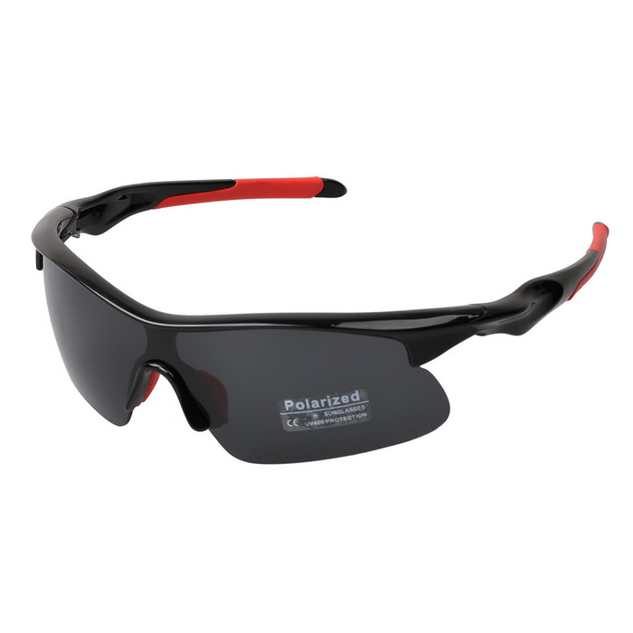 9356 Outdoor Night Vision TR90 Frame Sports Sunglasses - Gray + Black