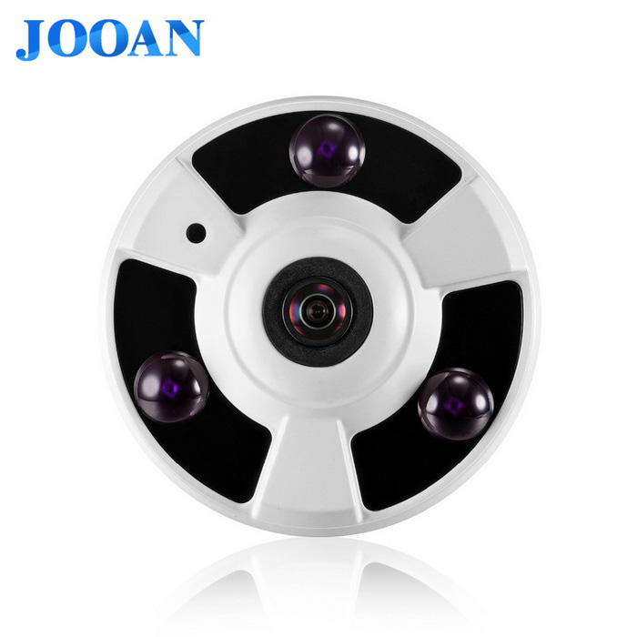 JOOAN 3.0MP 360-Grad-Panorama-Fisheye-IP-Kamera w / 3-Reihe IR-LED