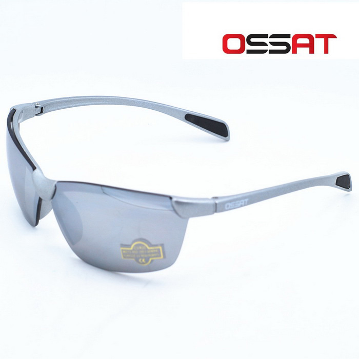 OSSAT 1002 100% UV Protection Outdoor Sports Glasses - White Silver