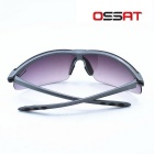 OSSAT TR90 Frame PC Lens Hiking Sports Sunglasses - Grey + Purple