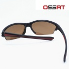 OSSAT 1103 100% UV Protection Outdoor Sports Glasses - Black + Red
