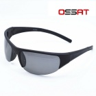 OSSAT A1301G UV400 Protection Sports Sunglasses - Black +Grey