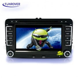 """LV001 7"""" 2 Din HD Android Car DVD Player with GPS, Bluetooth - Black"""