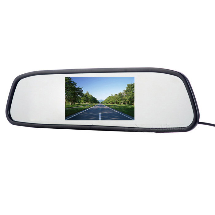 439B 4.3 Car Rearview Mirror AV Display Monitor - BlackCar Monitors<br>Form  ColorBlackModel439BQuantity1 DX.PCM.Model.AttributeModel.UnitMaterialABSStyleSun VisorScreen SizeOthers,4.3inchScreen Resolution480*272*RGBTouch Screen TypeNoDetachable PanelNoBrightness ControlYesMenu LanguageEnglish,French,German,Italian,Spanish,Japanese,Thai,Chinese SimplifiedFunctionBuilt-in speakerVideo SystemPAL,NTSCAudio Input1 channelVideo Input2 channelsInterface/PortOthers,N/AHeadphone JackOthers,N/AExternal Memory Max. SupportNo DX.PCM.Model.AttributeModel.UnitPower Consumption2.5WWorking Voltage   DC 5~12 DX.PCM.Model.AttributeModel.UnitWorking Temperature-20~70 DX.PCM.Model.AttributeModel.UnitStorage Temperature-30~80CPacking List1 x Monitor (Cable length: 60cm±2cm)1 x Connection cable (Cable length: 100cm±2cm)1 x Chinese / English manual<br>