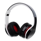 D-411 Bluetooth Headphone Headset w/ FM, Mic, TF Slot - Black + White