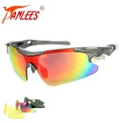 Panlees D548 3 Lenses Interchangeable Sports Sunglasses - Grey