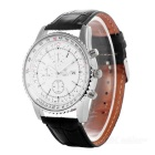 Valia Men's Quartz Watch w/ 3 Decorative Sub-dials - White + Silver