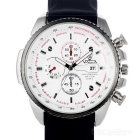 Valia Men's Quartz Watch w/ 3 Decorative Sub-dials - White + Black