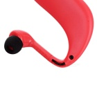 Bluetooth V4.0 Stereo Neckband Sports Earphones w/ TF Slot - Red