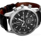 Valia 8257 Analog Quartz Round Dial Wrist Watch for Men - Black